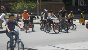The Ciclovía is a weekly cycling day for people in Bogotá, Colombia.
