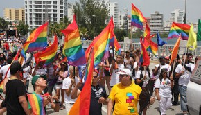 True colors: A sea of gay pride flags at the 2012 San Juan gay pride parade in Puerto Rico