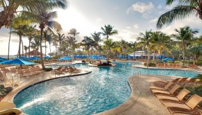 The Wyndham Rio Mar Beach Resort is hosting poolside screenings of the U.S. presidential debates.