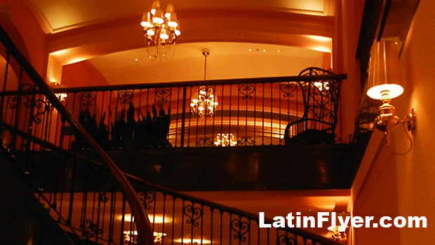 Dramatic stairways lead from the Condado Vanderbilt Hotel's lobby to event space.