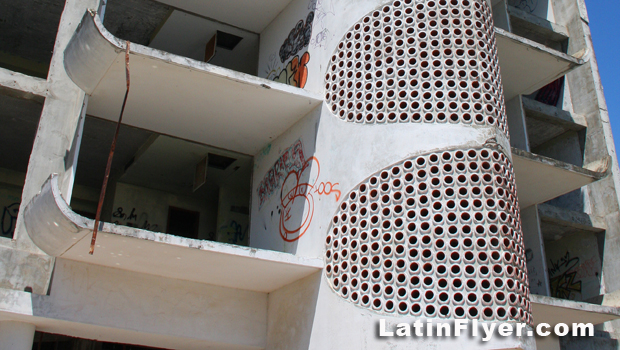 Exterior view of the stairwell and balconies at El Ponce InterContinental.