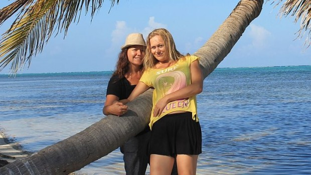 GlobetrotterGirls Jessica and Dani, enjoying the scenery in Mexico.