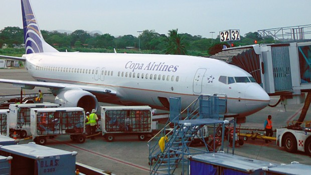 Copa Airlines operates the Boeing 737-800 on many flights from its hub in Panama City, Panama.