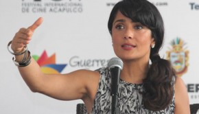 Selma Hayek spoke at the 8th annual Acapulco International Film Festival.