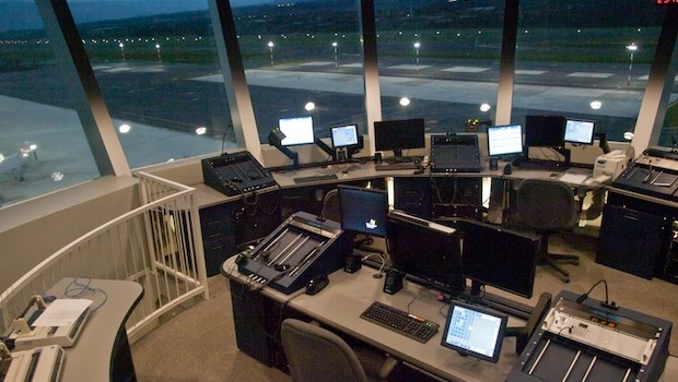Inside the control tower at the new Quito airport