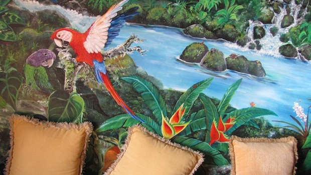 Colorful decor at Anton Valley Hotel, at El Valle de Antón, Panama. Photo: Hal Peat