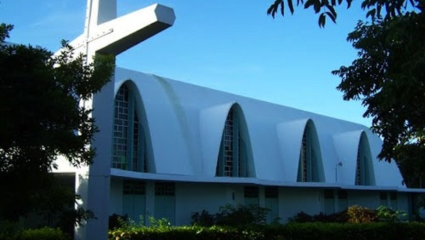 The church at the Catholic University in Ponce, Puerto Rico is all round corners.