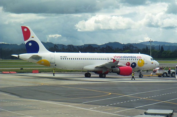 A Viva Colombia Airbus at Bogota airport. Photo: Santiago Narayana