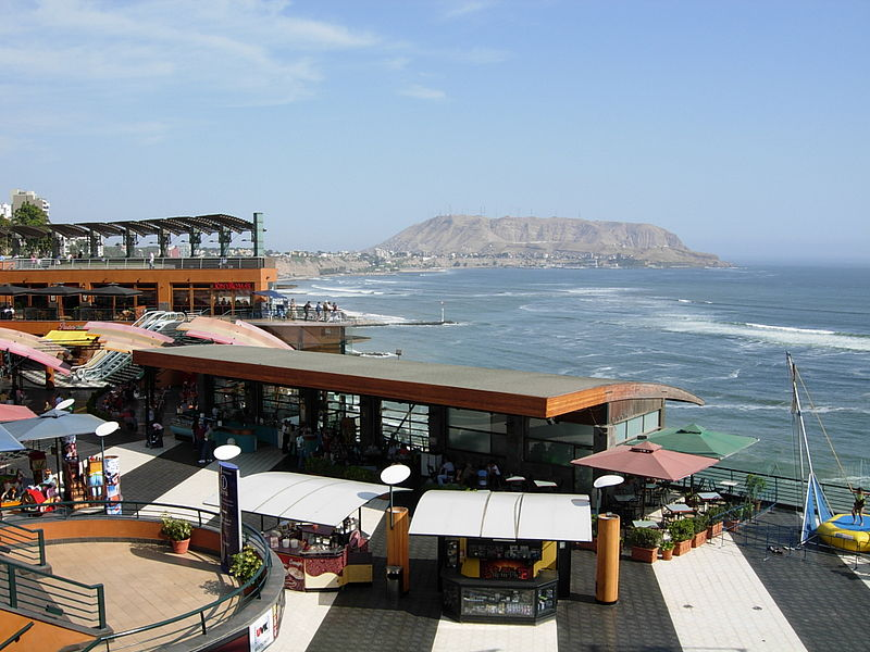 LarcoMar is an open-air shopping mall in Lima, Peru that overlooks the Pacific Ocean.
