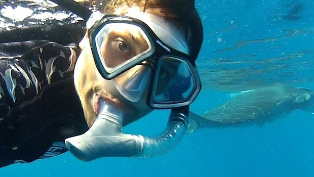 Snorkeling, swimming and scuba diving are Gabriel López Silva's passions.