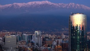 Santiago, Chile looks beautiful by night — and there's lots to do here.