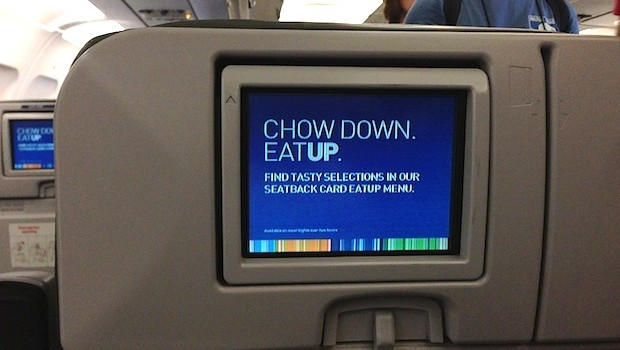 In-flight entertainment on the JetBlue Airbus A320. Photo: LatinFlyer.com