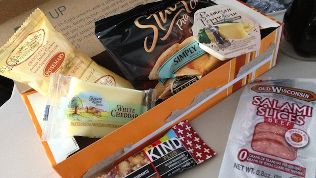 Inside the Beef Up airline food box, on JetBlue. Photo: LatinFlyer.com