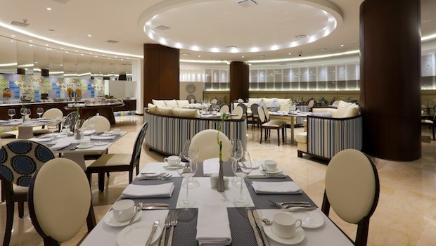 Blue, the restaurant at the Holiday Inn Cartagena Morros hotel in Colombia.