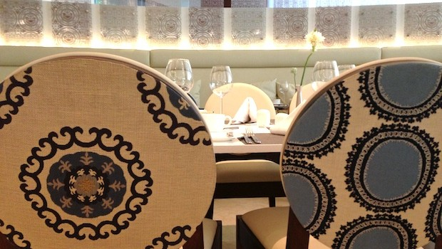 Nice decor elements at Blue restaurant, at the Holiday Inn Cartagena Morros hotel.