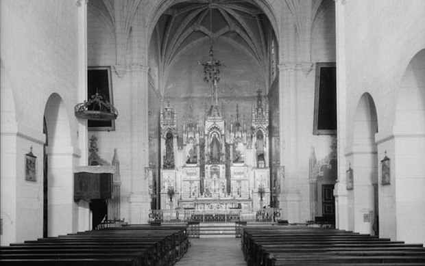 The interior of Iglesia San José (San José Church), an endangered site in San Juan, Puerto Rico.