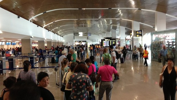 Airport security is especially intense at the airport in Cartagena, Colombia.