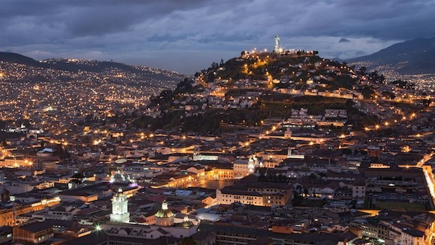 Historic downtown Quito, Ecuador, is a UNESCO World Heritage Site.