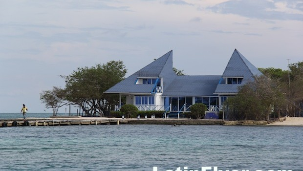 An impressive home at Islas del Rosario, Colombia.