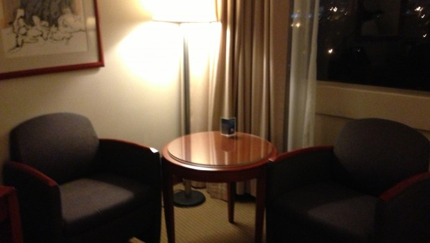Guest room seating at Hilton Colon Quito hotel. Photo: LatinFlyer.com