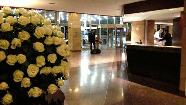 Lobby at Hilton Colon Quito hotel. Photo: LatinFlyer.com