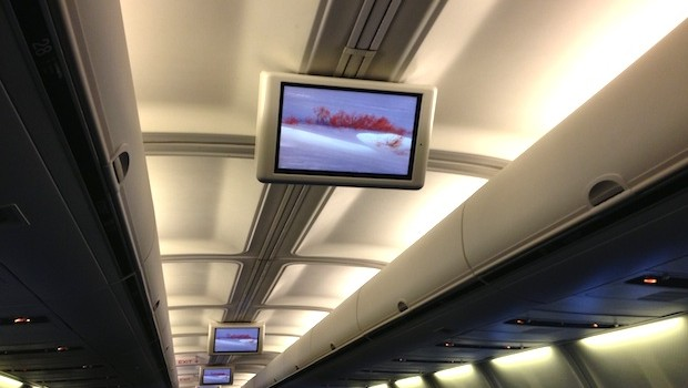 In-flight entertainment on the American Airlines Boeing 757. Photo: LatinFlyer.com
