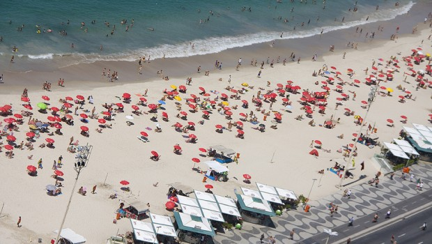 Both Copacabana (pictured) and Ipanema Beach attract gay travelers to Rio de Janeiro.