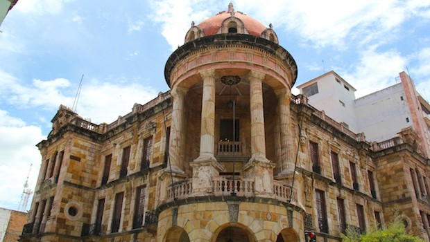 The historic city hall in Cuenca, Ecuador, is especially impressive.