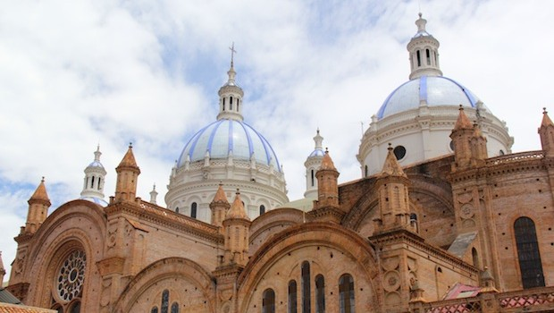 The New Cathedral in Cuenca, Ecuador is among the city's most recognizable sites.