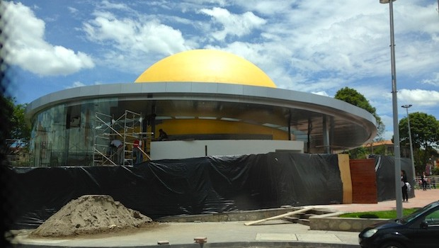 A new planetarium under construction in Cuenca, Ecuador.
