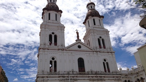 Iglesia de Santo Domingo, a church that opened in 1926 in Cuenca, Ecuador.