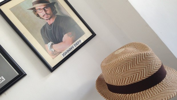 Johnny Depp is among the customers of Homero Ortega Panama hats.