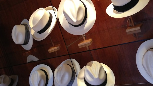 Panama hats at Homero Ortega in Cuenca, Ecuador.
