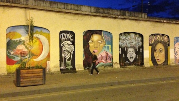 Wall murals and street art also decorate some parts of Cuenca, Ecuador.