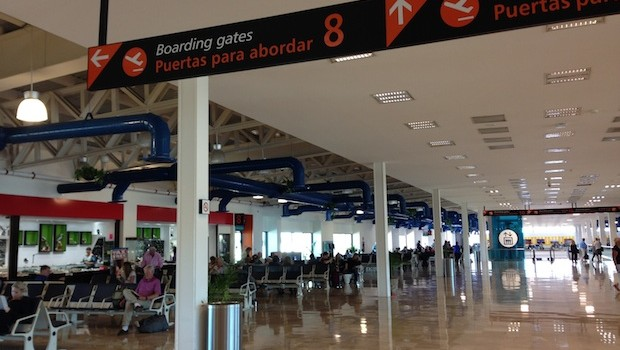 International departure gates at Puerto Vallarta International Airport.