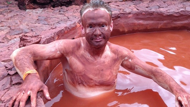 The volcanic red mud bath is not my best look.