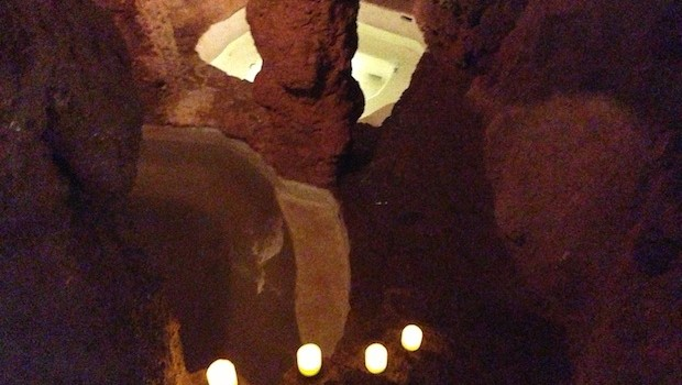 Underground thermal baths at Piedra de Agua spa, near Cuenca, Ecuador.