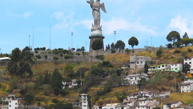 The Virgen del Panecillo is a popular attraction in Quito, Ecuador.