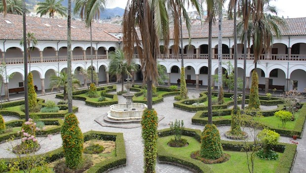 The Convento San Francisco — St. Francis Convent, in Quito, Ecuador.