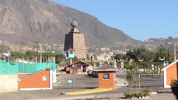 The Mitad del Mundo — Center of the Earth — is a big site in Ecuador.