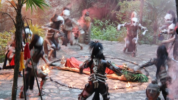 Dancers perform traditional Mexican cultural dances at Xcaret.