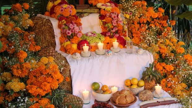 Colorful altars for the Day of the Dead, at Xcaret in the Riviera Maya.