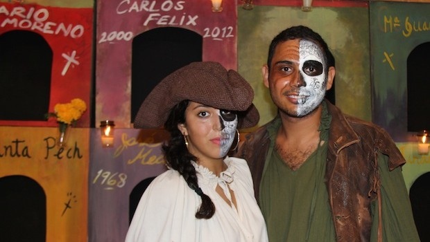 Pirate costumes and Day of the Dead makeup, at Xcaret.