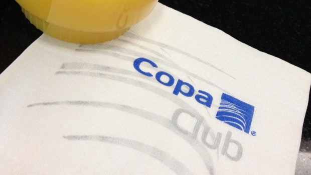 I enjoyed free refreshments at the Copa Club in the Panama City airport.