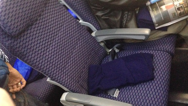 Economy class airline seating on Copa Airlines Boeing 737-800.