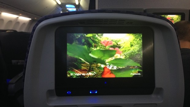 Free inflight entertainment on Copa Airlines Boeing 737-800.