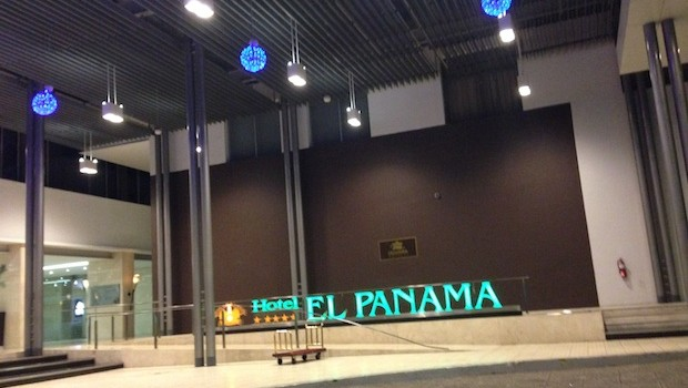 Lobby entrance at El Panama hotel in Panama City.