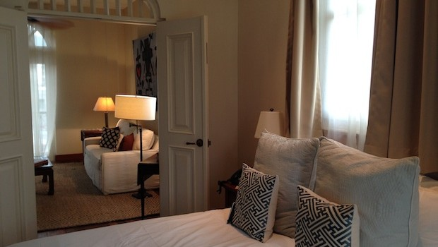 Our one-bedroom suite at Las Clementinas hotel was spacious and attractive.