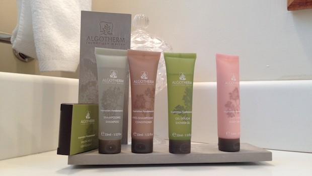 Algotherm bath products are among the amenities at Las Clementinas hotel.