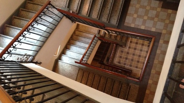 The stairway at Las Clementinas hotel offers great photo opportunities.